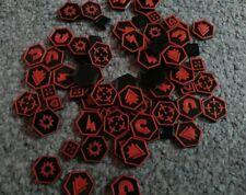 Warhammer 40K Kill Team Tokens Tactic Tokens x80 Black & Red