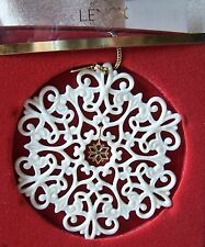 Lenox China Snowflake Snow Fantasies Pierced Ornament 1999 NIB