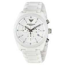 Emporio Armani Ceramica White Dial Ladies Watch AR1493