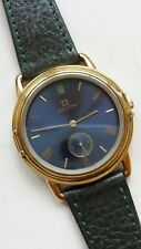 Zenith Gents Blue Dial Gold Plated Case Swiss Made Dress Watch Excellent Conditi