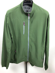 Peter Millar E4 Per4mance Elements Wind Full Zip Golf Jacket Green Size Large
