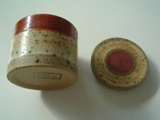 DENBY Stoneware Jar With Glazed Band And Matching Lid