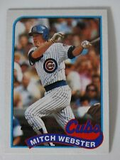 1989 Topps Mitch Webster Chicago Cubs Wrong Back Error Baseball Card