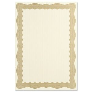 30 A4 Paper Plain Blank Certificates With Gold / Bronze Border Incl Silver seals
