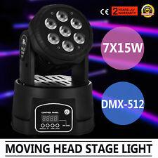 7x15W Laser Bühnenbeleuchtung Lichteffekt FAN COOLER MINI HEAD-MOVING EXCELLENT