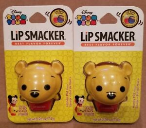New 1 Disney Tsum Tsum Lip Smacker Lip Balm Honey Pot Flavor POOH .26 oz