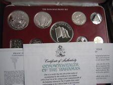 Bahamas 1976 9 monedas prueba de conjunto en caja con certificado de autenticidad 4 monedas son de plata de Franklin Mint 2
