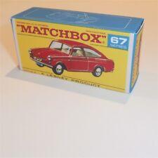 Matchbox Lesney 67 b Volkswagen 1600TL empty Repro F style Box