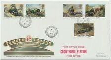 Postal History: CROWTHORNE STATION 1985 postmark 1st Day Famous Train stamps FDC