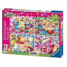 Ravensburger Shopkins Kids 4 X 100 Piece Jigsaw Puzzle Bumper Pack Toy