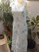 SOMEWHERE robe debardeur longue viscose bleu clair imprimée doublée taille 38
