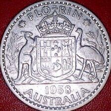 1958 2/- Silver TWO Shilling Florin TWO BOB QUEEN Elizabeth II Very Nice