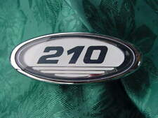 """SEA RAY BOAT 210 CHROME EMBLEM NEW 4"""" X 1-5/8"""" FOR ANY 21 FT BOAT W FLAT SURFACE"""