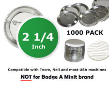 """1000 Button Badge Making Parts / 2.25 inch machine Mylar Shell Back Pins 2 1/4"""""""