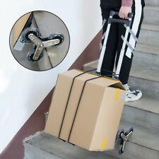 Portable Stair Climbing Folding Cart Climb Hand Truck 6 Wheels Adjustable Ropes