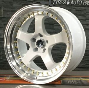 """WORK MIESTER RP 19"""" STAGGERED ALLOY WHEELS TOYOTA MAZDA NISSAN MITSUB"""