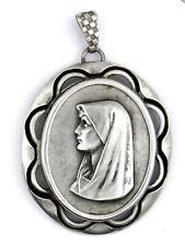 Médaille (medal) ♦ ARGENTÉE RELIGION CATHOLIQUE VIERGE MARIE