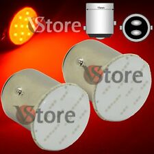 2 Lampade Led Auto BAY15D S25 P21W 12SMD Chips 1157 Cob Luce Freno Stop Rosso