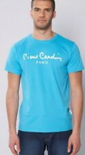 Mens Turquoise T-shirt Size XL Pierre Cardin 100% Cotton Short Sleeve Tee
