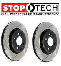 For Audi A3 TT VW Golf GTI Jetta Set Front Slotted Brake Discs Rotors StopTech