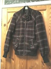 NEW LOOK TALL Ladies Brown/Pink Checked Wool Blend Blouse Jacket Size 10