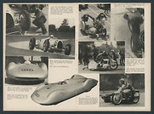 AUTO UNION Rudolf Hasse Silberpfeil Nürburgring Motorrad Beiwagen Kahrmann 1937