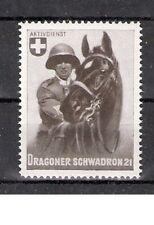 Schweiz Soldatenmarke Kavallerie Dragoner Schwadron 21 * Pferd Reiter Horse