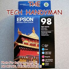 6-PACK Epson GENUINE 98 Black & Color Ink (NO RETAIL BOX) for ARTISAN 835 837