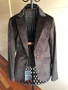Penny Black giacca nuova IT 42 UK10 FR38 color cioccolato velluto retail 120€