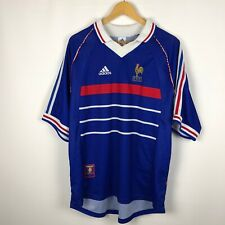 Vintage France 1998 1999 Home football shirt adidas soccer jersey rare FFF 90s