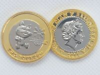 £2 Tosha CAT 2 pound coin ISLE OF MAN COMMONWEALTH YOUTH GAMES 2011 Filler coin