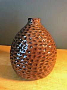 Pottery Barn Brown Ceramic Decorator Vase