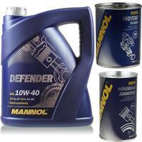 5L MANNOLDefender 10W-40 API SL/CF Öl MN7507-5 Motor Flush Oiladditiv Molibden