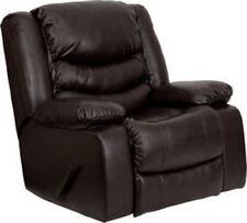 Flash Furniture Plush Brown Leather Rocker Recliner MEN-DSC01078-BRN-GG Recliner