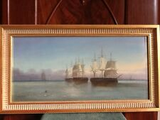 TABLEAU 19ème HSP BELLE MARINE SIGNEE - 19TH C. SEASCAPE OIL ON BOARD SIGNED