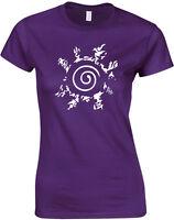 Naruto Four Symbols Seal, Naruto inspired Ladies Printed T-Shirt