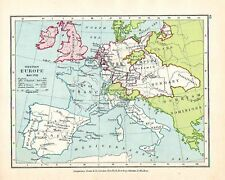 VICTORIAN MAP ~ WESTERN EUROPE MAY 1702