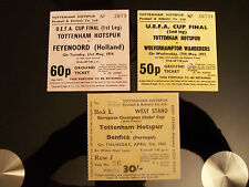 3 Tottenham Hotspur European cup / U.E.F.A. Cup final/semi final tickets mint.