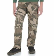 Boys Army Green Camo Cargo Pants 10 Husky