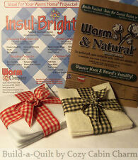 "9"" Potholder Batting Squares Combo Pack (6 ~ Warm & Natural / 6 ~ Insul-Bright)"