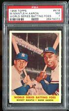 1958 Topps #418 World Series Batting Foes PSA 7 *VERY Nice!*