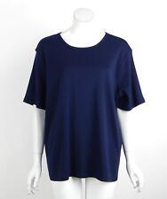 Lauren Ralph Lauren Woman Knit Top Shirt Blue LRL Logo Cotton Plus Size 3X New