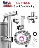 Handheld Diaper Stainless Steel Sprayer Shower Bidet Toilet Bathroom Spray Hose