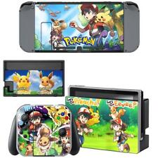 Pokemon Pikachu Eevee Vinyl Skins Nintendo Switch Console Joy-Con Stickers Wraps