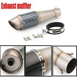 Motorcycle 51mm Diameter Inclined Tailpipe Stainless Steel Exhaust Pipe Durable