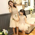 Lace matching mother and daughter clothes mom mommy and me dress family look