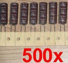 500x LowESR LXV nippon Elko 2200µf 6,3v 105 ° C Condensateur carte mère 1500 1800 µf