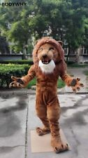 Long Fur Lion Mascot Costume Cosplay Party Advertising Carnival Xmas Fursuit