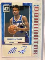 2017-18 Donruss Optic Rookie Dominator AUTO RC MARKELLE FULTZ 08/49