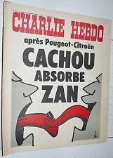 CHARLIE HEBDO N°213 16/12 1974 WOLINSKI CAVANNA CHORON REISER GEBE WILLEM CABU